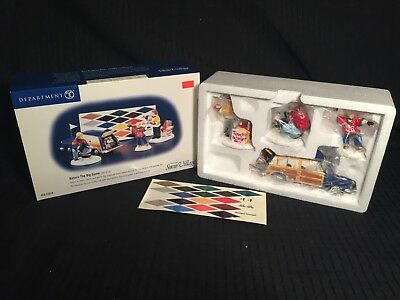 Dept 56 Snow Village BEFORE THE BIG GAME *NEW* Never Displayed or Unwrapped