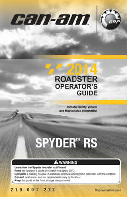 New Can-Am Spyder RS 2014 Roadster Owners Operators Manual Paperback FREE S&H