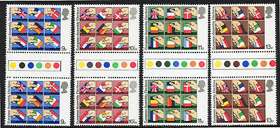 GB Stamps 1979 First Direct European Assembly Set of 4T/L G/Ps. SG 1083-1086.