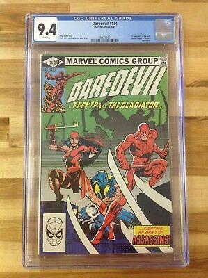 Daredevil 174 CGC 9.4 1995336011 1st Appearance of the Hand