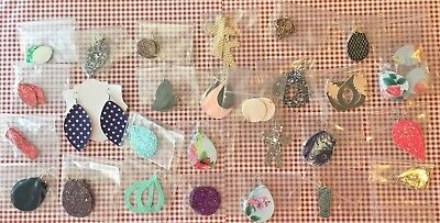 Bulk/Wholesale Lot of faux leather, Leather And Glitter Earrings. 30 Pairs.