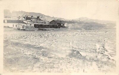 Vladivostok Russia 1920s RPPC Real Photo Postcard Frozen Harbor