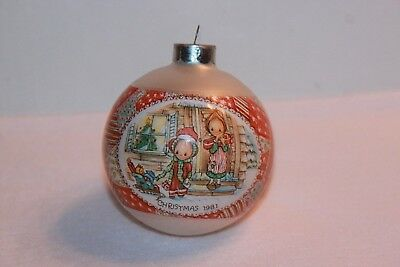 1981 Hallmark Betsey Clark Glass Ball Christmas Ornament