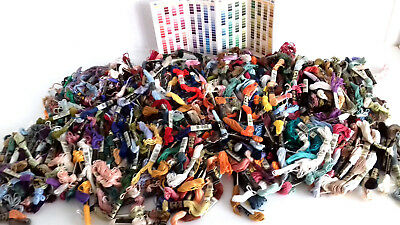 650 grams of partially-used DMC Embroidery/Cross-Stitch THREADS SKEINS