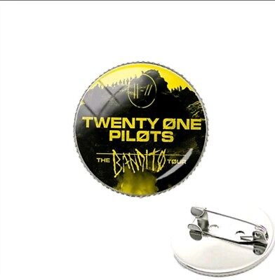 Twenty One 21 Pilots Trench the Bandito Tour Glass Dome Pin Black Black
