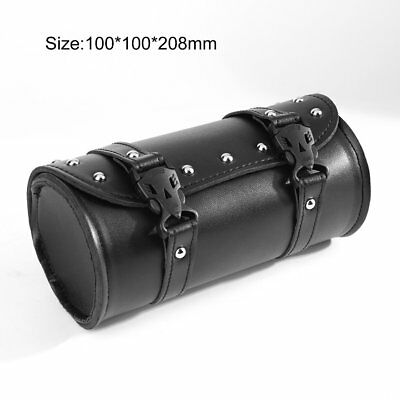 Motorcycle PU Leather Saddlebag Roll bag Storage Tool Pouch For Harley Davidson#