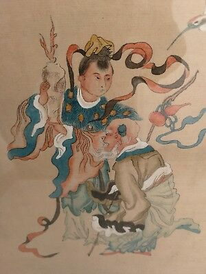 Vintage Pair Chinese Watercolour Framed Paintings Signed?