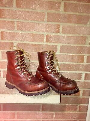 b4063259603f5 VINTAGE RED WING Irish Setter Sport Boots Leather Work Hunting Boots Mens  9.5 EE