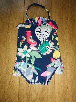 Marks & Spencer Baby Navy Mix Sun Safe Swimming Costume Upf 50+ Age 9-12 Months