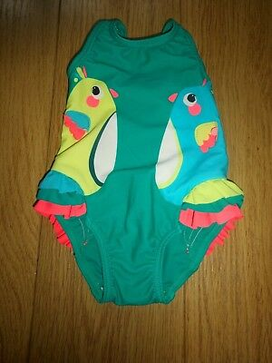 Marks & Spencer Baby Green Mix Sun Safe Swimming Costume Upf 50+ Age 3-6 Months