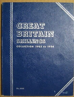 Lot of 3 Great Britain Shillings in a Book Take a L@@K