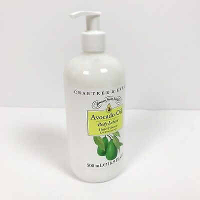 Crabtree & Evelyn AVOCADO OIL BODY LOTION with PUMP 16.9 oz BRAND NEW HUGE XL