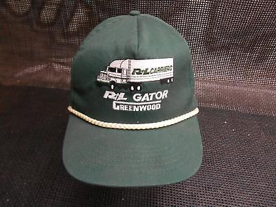 Old Vtg R&L CARRIERS Mens Truckers HAT Cap Snapback Gator Greenwood Advertising