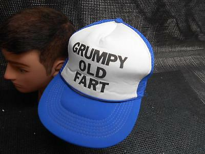 Old Vtg GRUMPY OLD FART Men's HAT Truckers Cap Foam Snapback Advertising