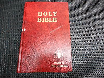 Old Religious Book HOLY BIBLE PLACED By The GIDEONS Hardcover 1291 Pages