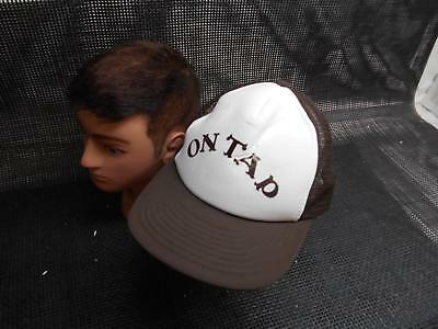 Old Vtg ON TAP Men's HAT Truckers Cap Foam Snapback Advertising