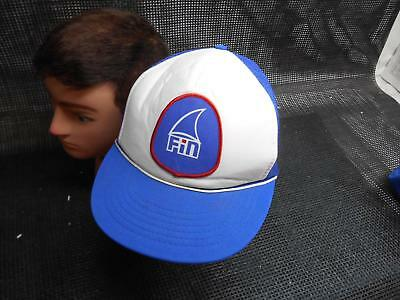 Old Vtg FIN Men's HAT Truckers Cap Foam Snapback Advertising