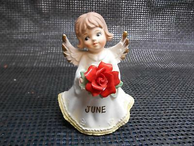 Old Vtg NIPPON KIGYO Trading Corp JUNE ANGEL FIGURINE China Statue Art #H16897