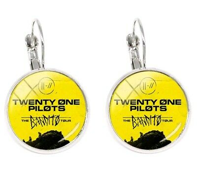 Twenty One 21 Pilots Trench the Bandito Tour Glass Dome Earrings Yellow