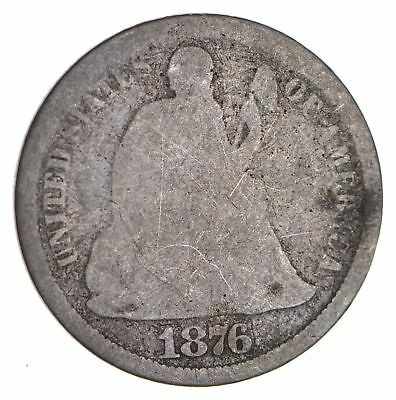 Historic 1876-CC Seated Liberty Dime *919