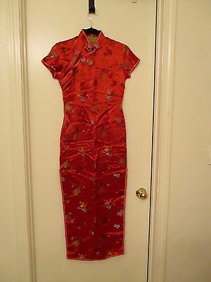 Beautiful Red Chinese Dress size 32
