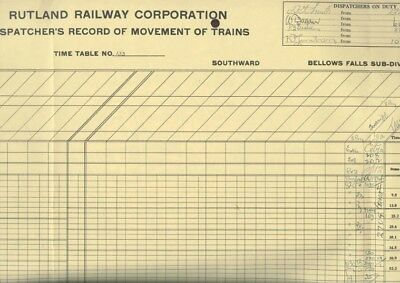 RUTLAND RAILWAY CORP.: DISPATCHER'S RECORD of TRAINS for Mon., AUGUST 9, 1960 !