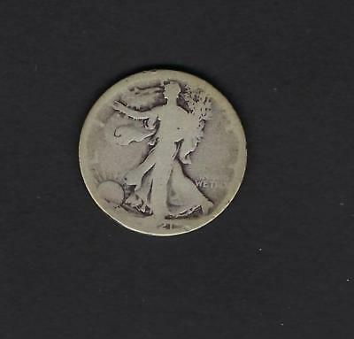 US 1921-P Silver Walking Liberty Half Dollar in AG About Good Condition