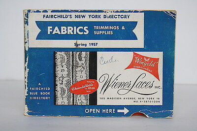 Fairchild's New York Directory Fabrics Trims Notions Buttons Blue Book 1957