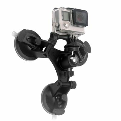 Triple Suction Cup Mount Low Angle Sucker Holder for Gopro Hero 2 3 3+ 4 CameHX