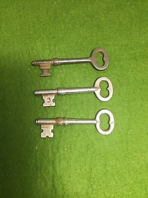 Lot of Number 3 Vintage Antique Skeleton Keys