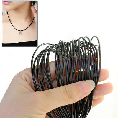 10m 1.5mm Black Leather Cord Thread DIY Bracelet Necklace Jewelry Making WEN
