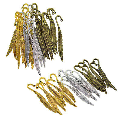 30/18pc Antique Feather Bookmarks For Beading Findings Book Marks Stationery