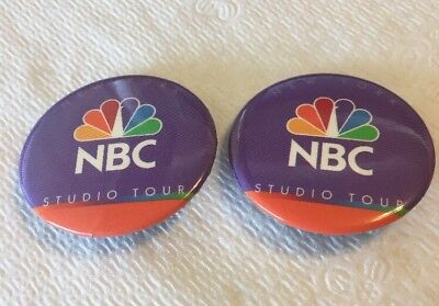 2 NBC Studio Tour Buttons New York