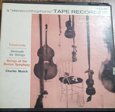 Tchaikovsky Serenade for Strings BSO Munch 2 track stereo RCA Victor Reel tape