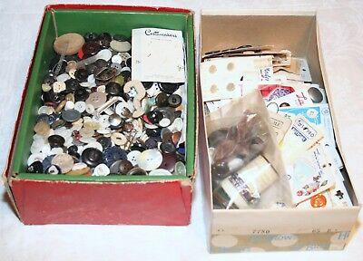 Large Lot Of Vintage BUTTONS Mixed Assorted Cards 6 lbs