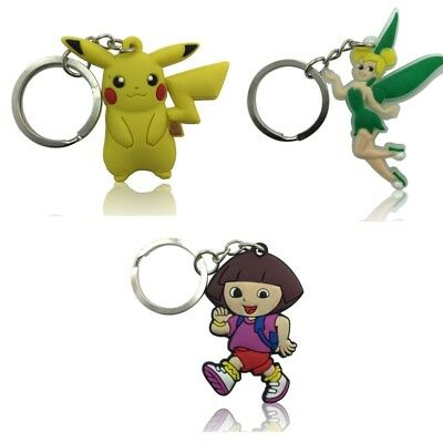 3PCS Classical Cartoon Chain Key Ring Kids Toy Key chain Key Holder Charms Gift