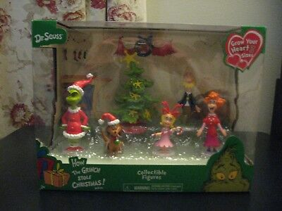 New Dr Seuss How the Grinch Stole Christmas! Collectible Figures Set 6 Pieces