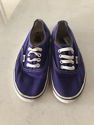 Purple Vans Womens Size 7 Mens Size 6 - Used