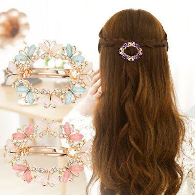 Women's Girls Crystal Butterfly Flower Hair Clips Barrette Hair Pins Accessories