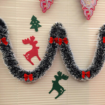 2M Chunky Xmas Garland Home Party Wall Door Decor Christmas Tree Ornaments -WE89