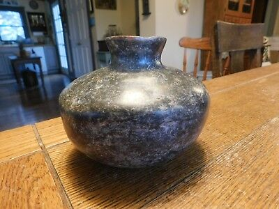 Ancient PRE COLUMBIAN Pottery Vase Jar Bowl-Black Paint-700 BC-220 AD