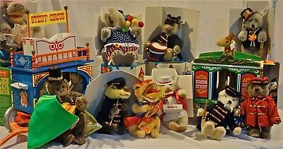 Steiff 13 Pc  Complete Animal Circus Set 80''s Never Used