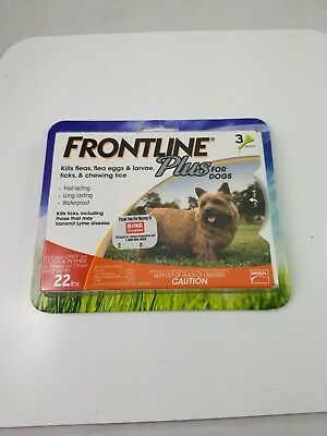 3-Doses Frontline Plus Flea and Tick Control for Dogs & Puppies up to 5 to 22lbs