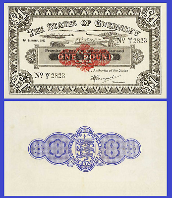 Guernsey 1 pound 1943 UNC - Reproduction