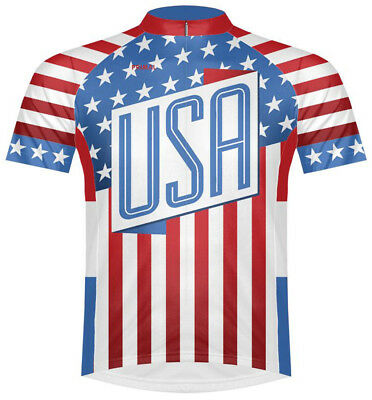 Primal Wear United States USA Flag Stars and Stripes Cycling Jersey Mens  bicycle 9d1b0db7e