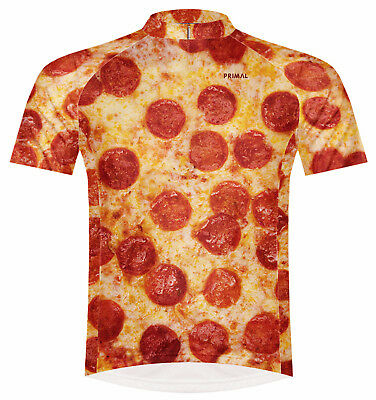 Primal Wear Pizza Cycling Jersey Mens short sleeve bicycle bike with DeFeet  sox 79091e581