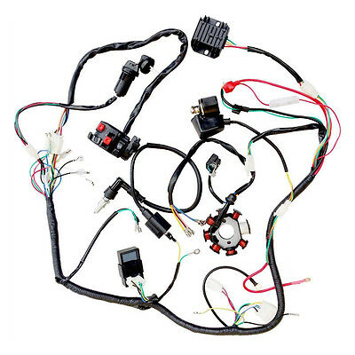 Electric Wiring Harness Wire Loom Cdi Switch Assembly For Atv Quad