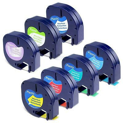 7Color 16952 91331 91330 91335 Compatible for DYMO Letratag Label Tape 12mm 7PK