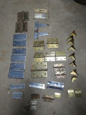 Vintage Hinges, Clasps and Brass Corners for Trunks