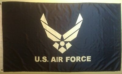 """US Air Force Flag (USAF) 35"""" x 60"""" - two hole like new lightweight quick dry"""